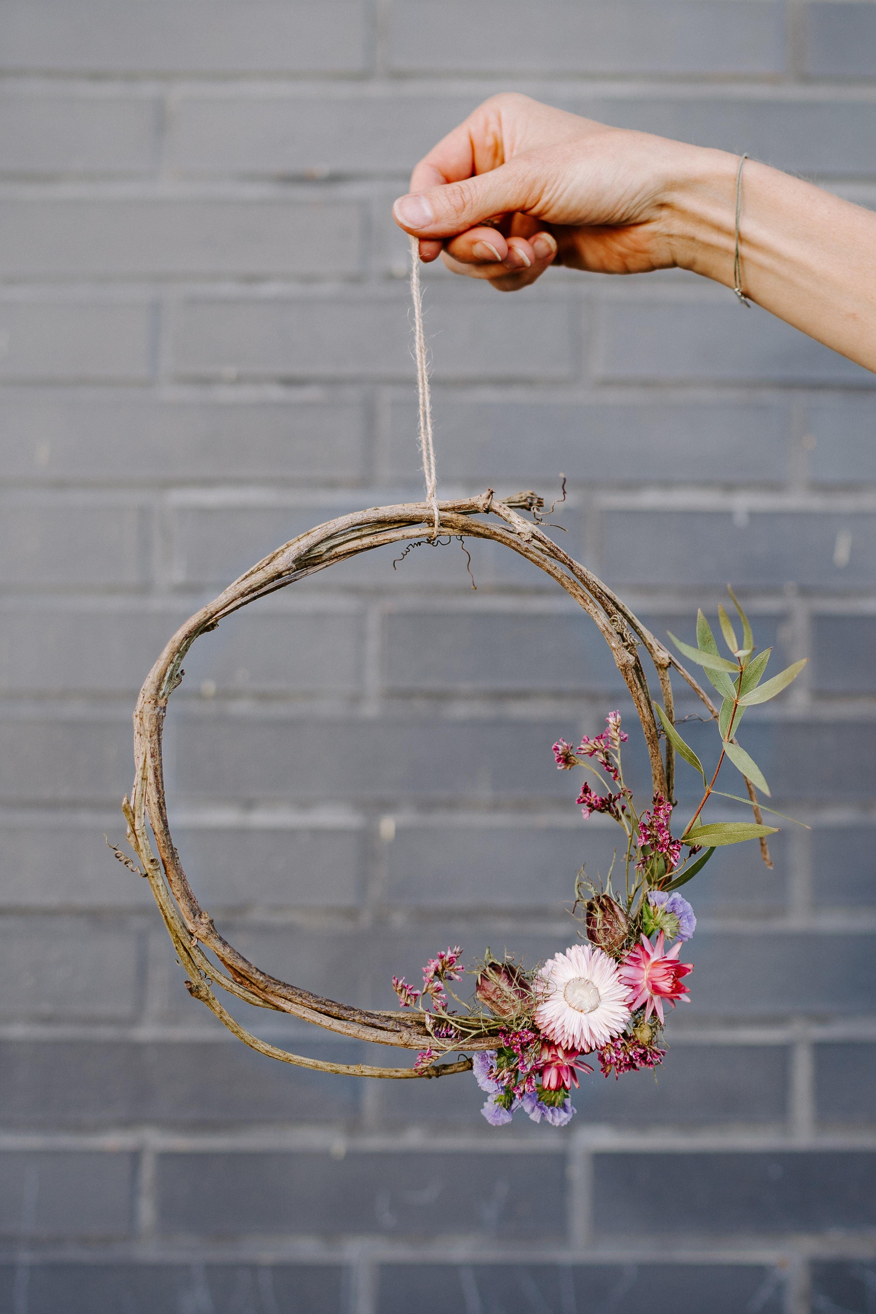 lebci couronne fleurs séchées