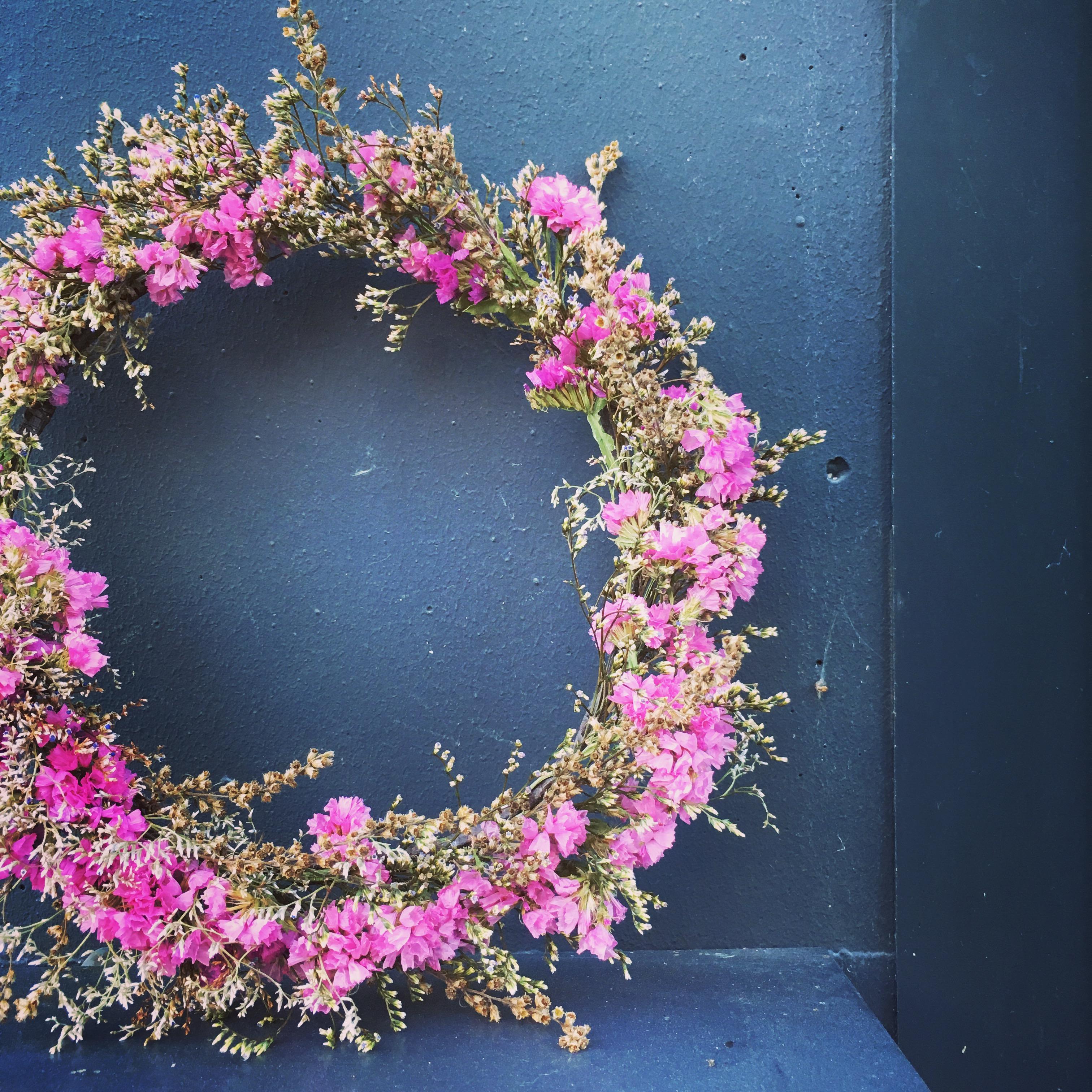 lebci fleuriste bordeaux couronne fleurs séchées