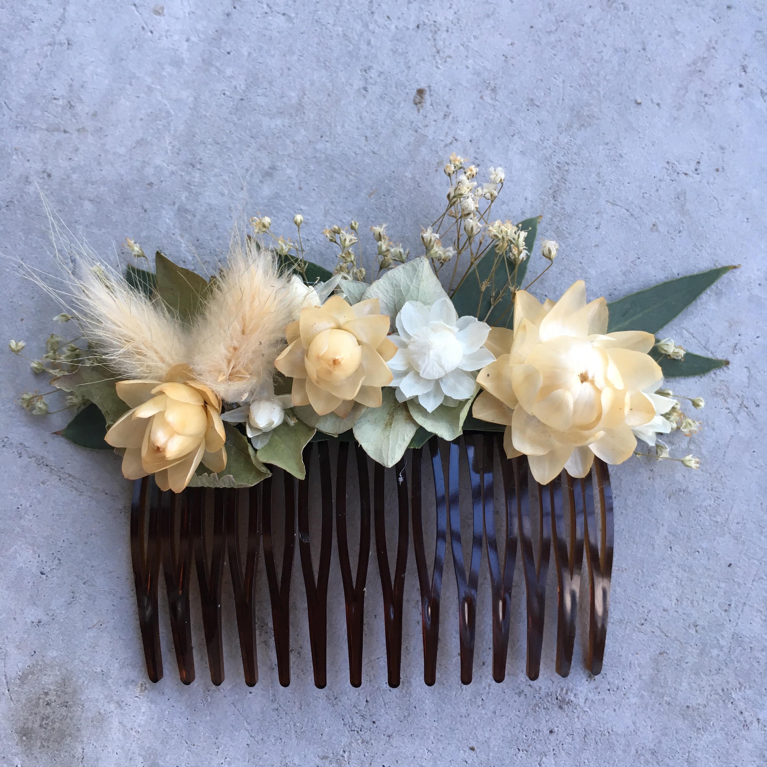 lebci fleuriste ecoresponsable bordeaux peigne fleurs séchées
