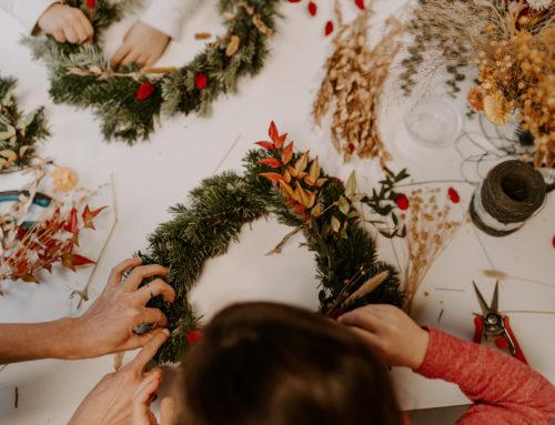 Atelier couronnes de Noël à Ginko&Co
