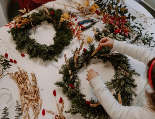 Atelier couronnes de Noël chez Cofete B